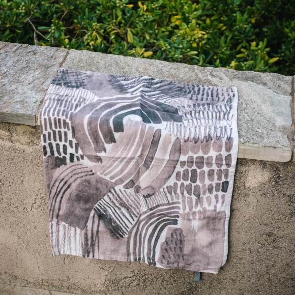Linen tea towel / Drain fields