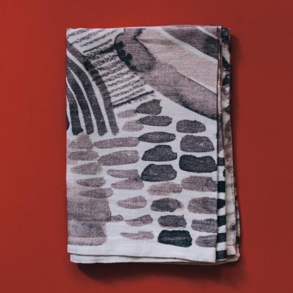 Linen tea towel / Thunder ceases