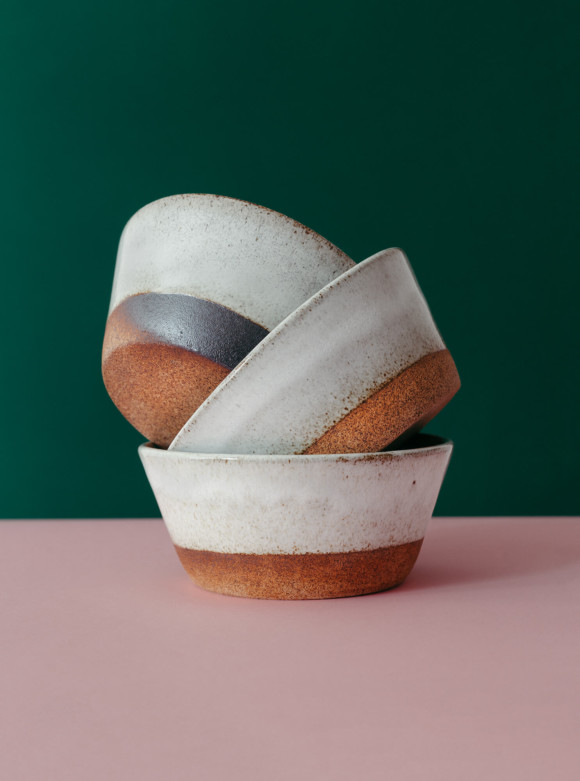 White breakfast bowl