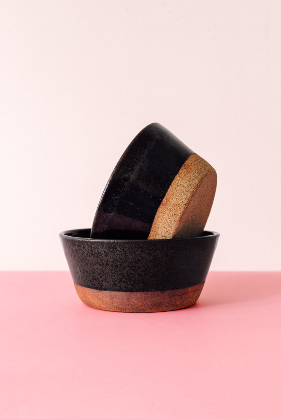 Black breakfast bowl