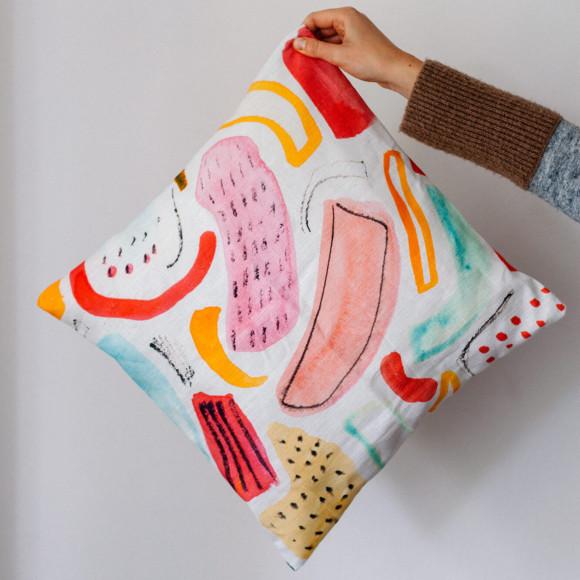 Linen pillow case / Drain fields