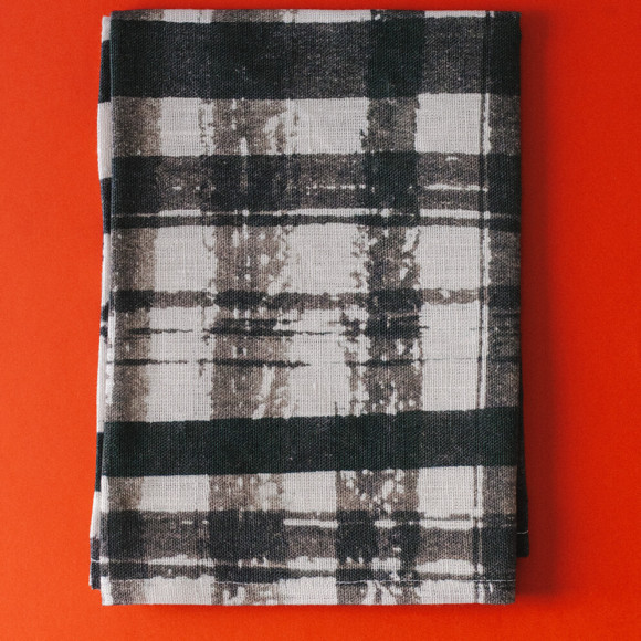 Linen tea towel / Checked pattern no.2