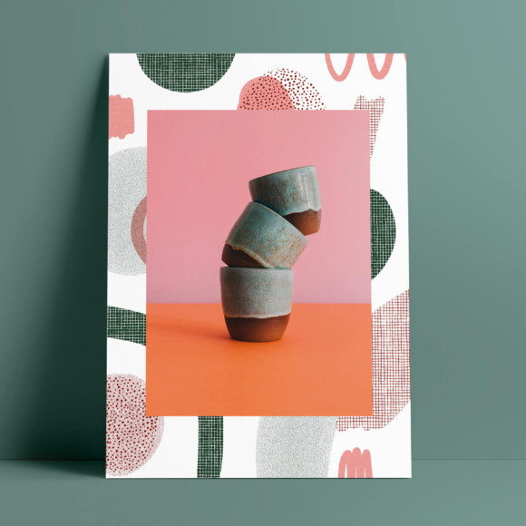 Green cup poster II / print on paper
