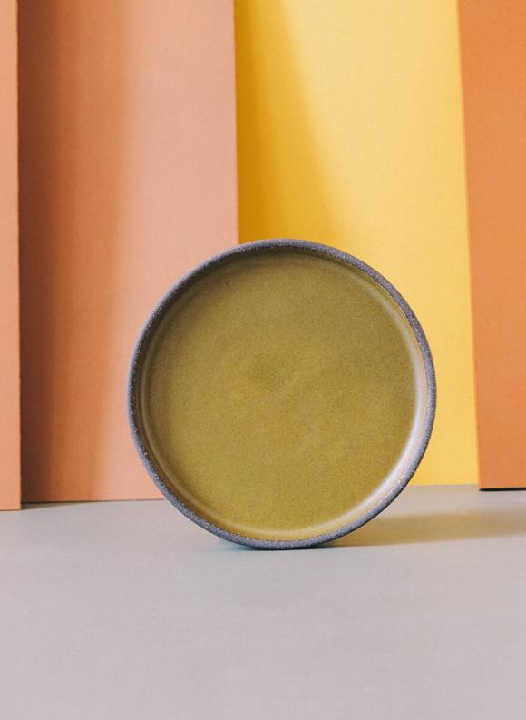 Matte gold butter plate