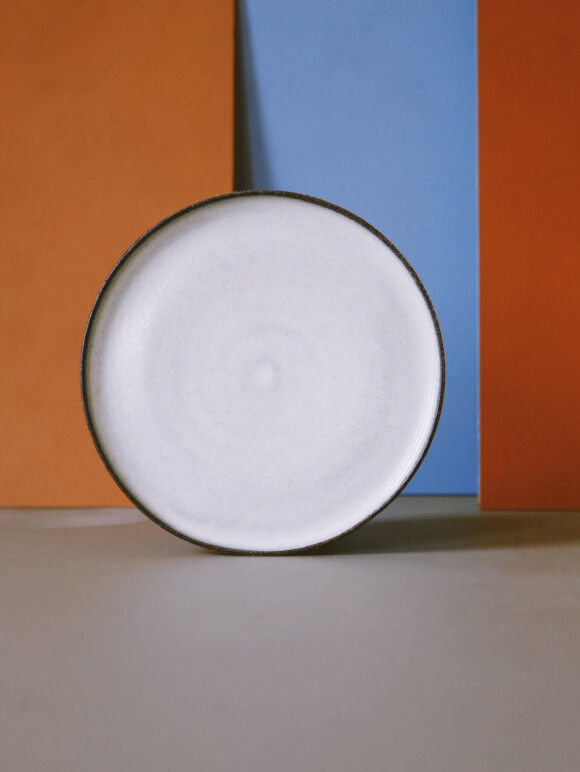 White lunch plate