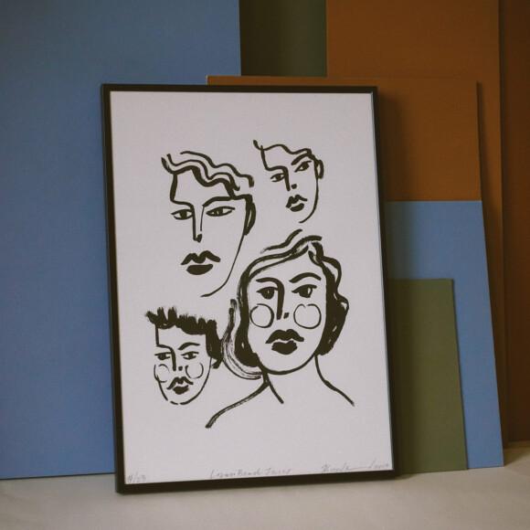 Lozari Beach Faces / Print on paper