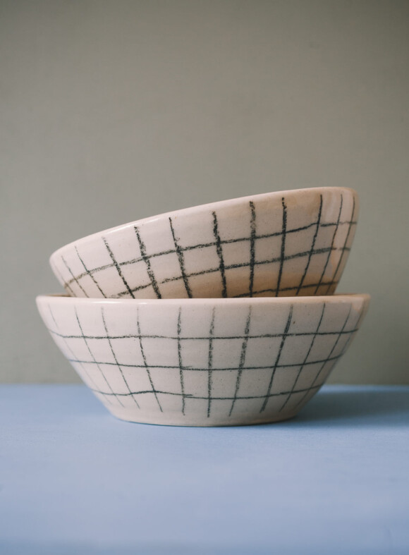 Checked breakfast bowl