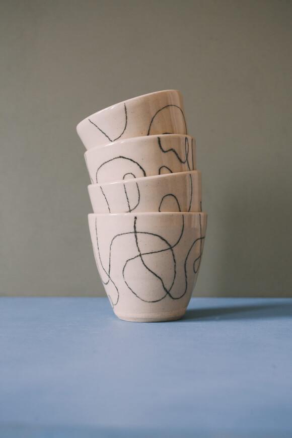 Wavy lines coffee mug