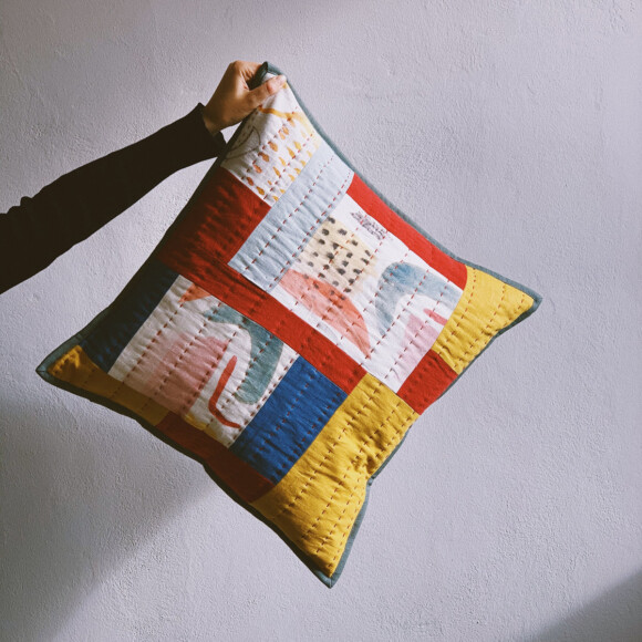 Quilted cushion no.5