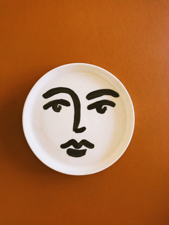 Faces butter plate / Limited edition no.6