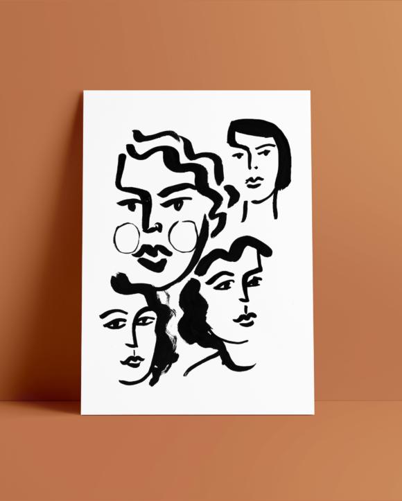 Lozari Beach Faces II / Print on paper