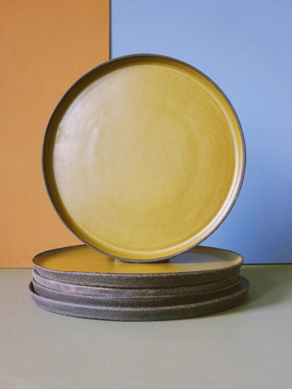 Golden lunch plate