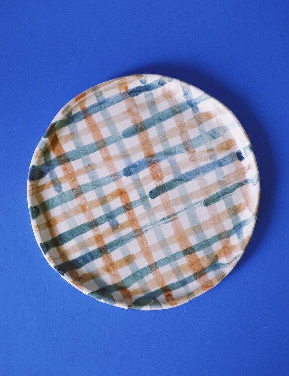 Painted lunch plate / Sample Sale no.2