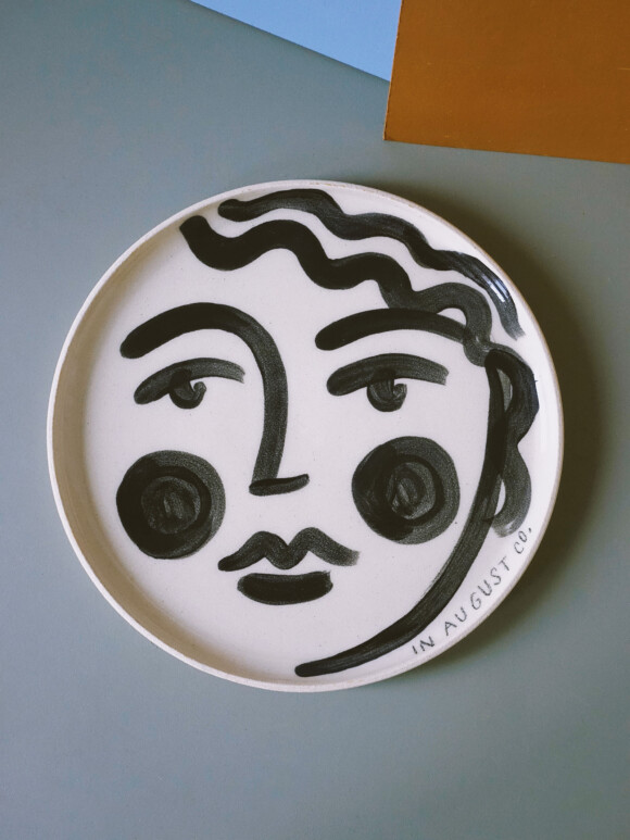 Faces lunch plate / Limited edition no.30