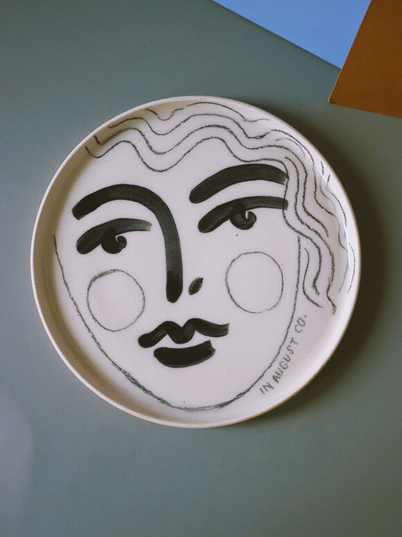 Faces lunch plate / Limited edition no.32