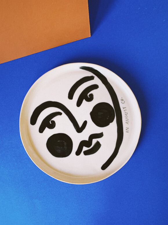 Faces lunch plate / Limited edition no.38