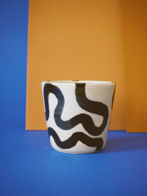 Small Wavy lines cup / Limited edition no.21