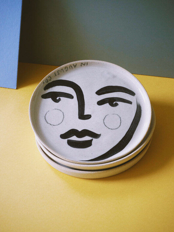 Faces butter plate / Limited edition no.34
