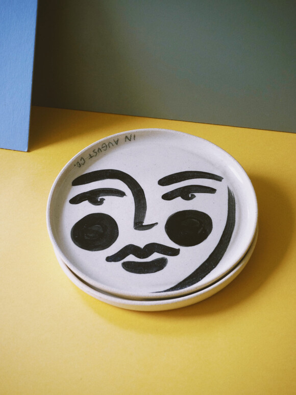 Faces butter plate / Limited edition no.35