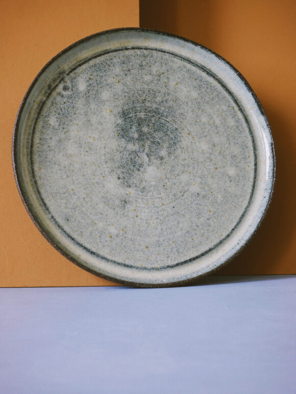 Grey lunch plate