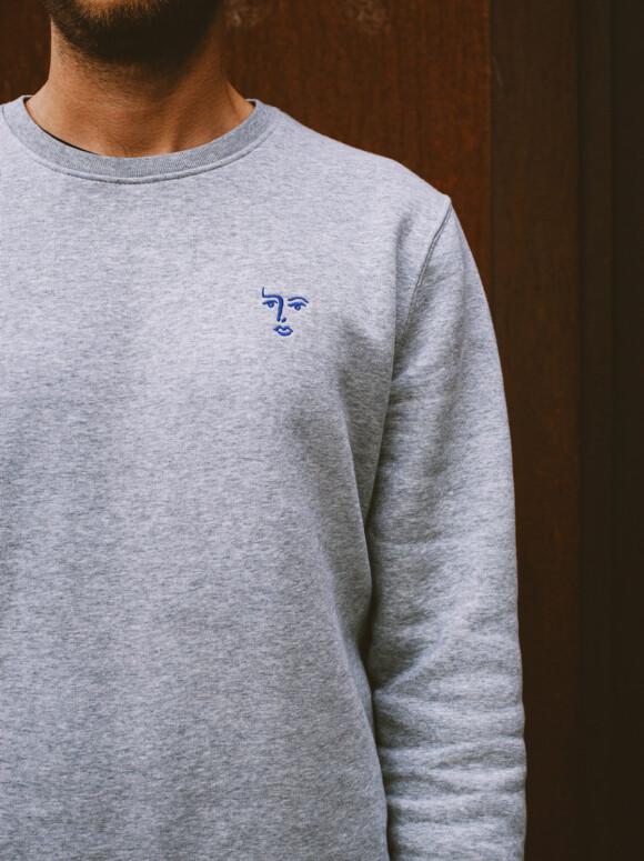 Face Sweatshirt  / Fog Grey