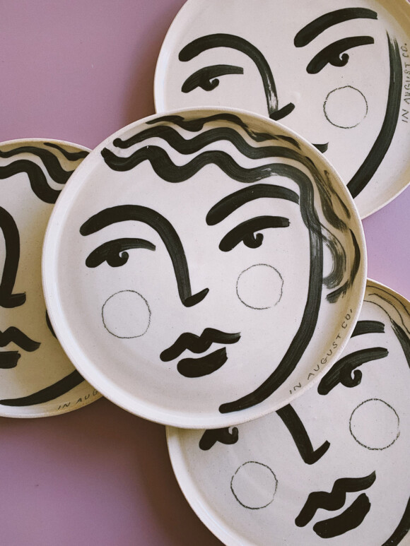 Faces lunch plate / Limited edition no.31