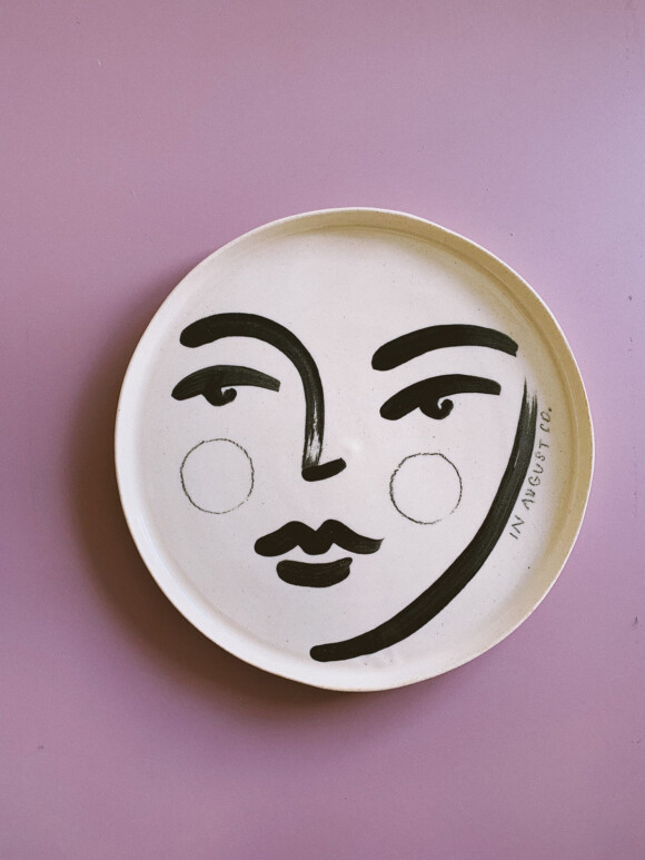 Faces lunch plate / Limited edition no.29