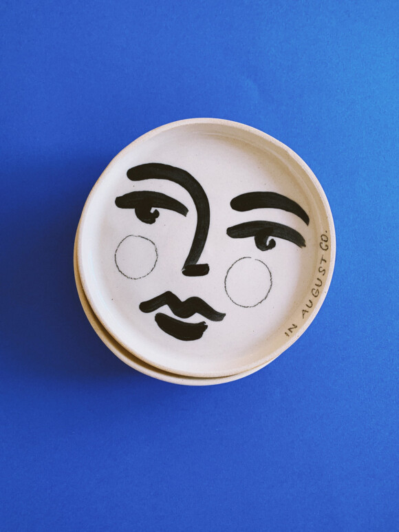 Faces butter plate / Limited edition no.57