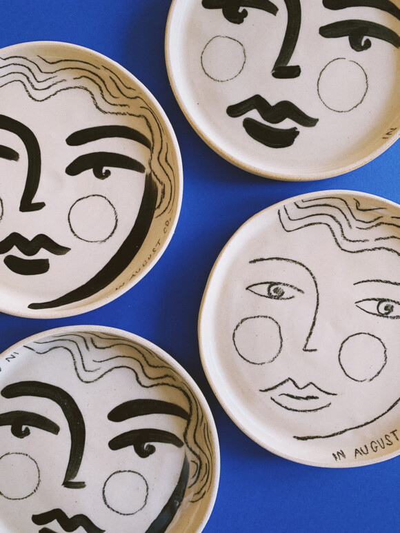 Faces butter plate / Limited edition no.56