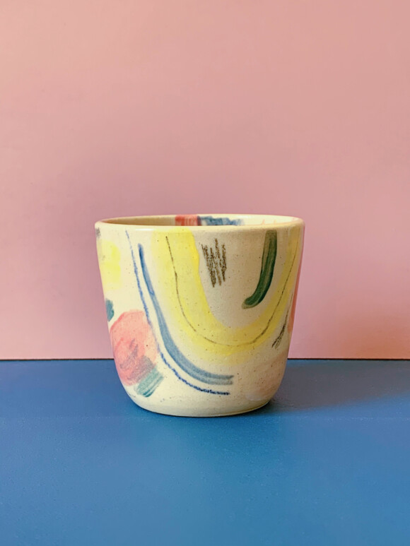 Small Painted cup / Limited edition no.61
