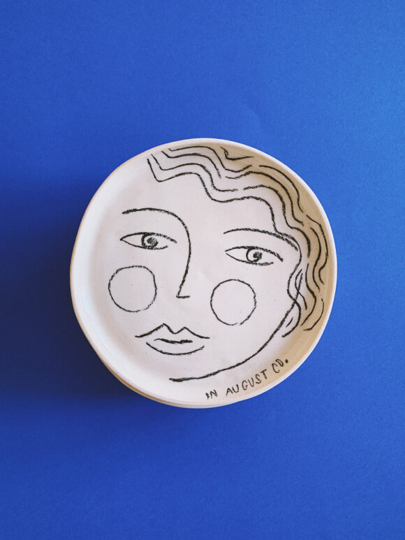 Faces butter plate / Limited edition no.55