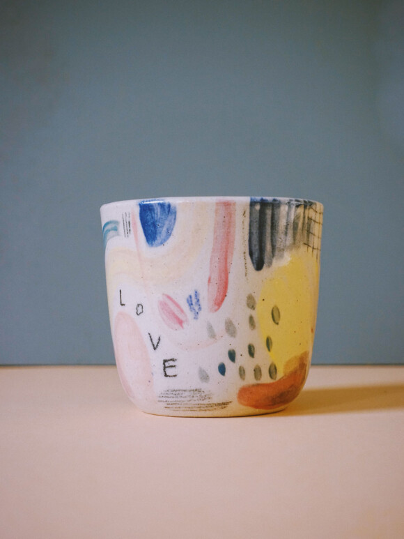 Small Painted cup / Limited edition no.73
