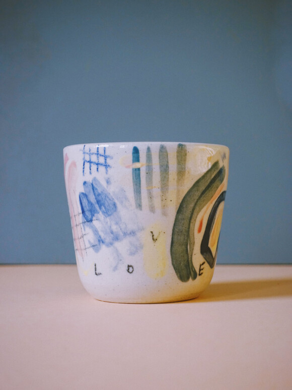 Small Painted cup / Limited edition no.74