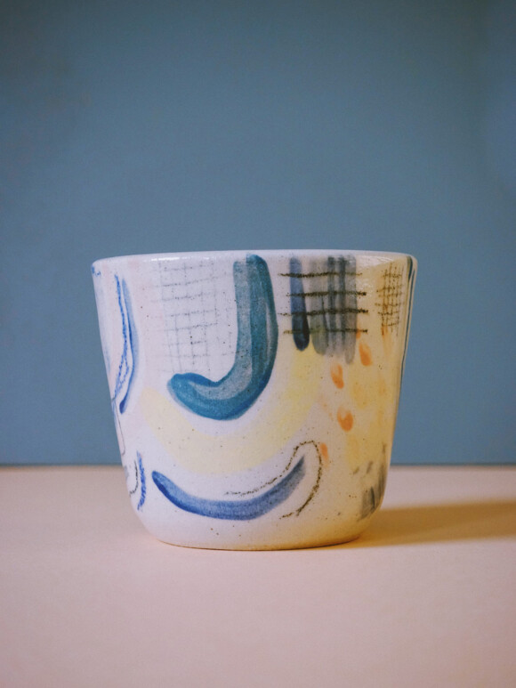 Small Painted cup / Limited edition no.72