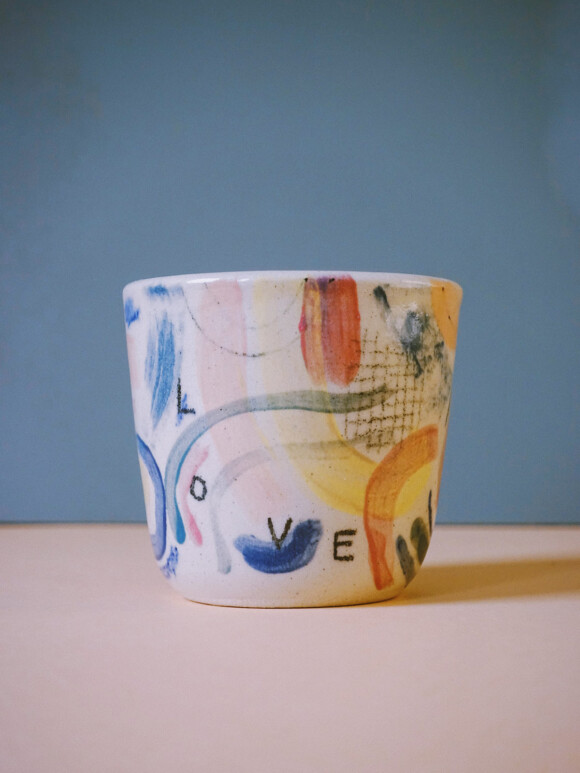 Small Painted cup / Limited edition no.71